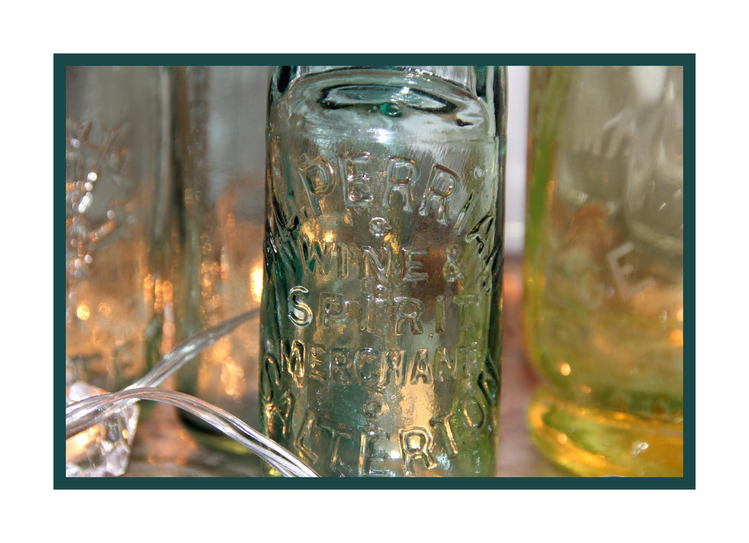 Dekoflasche im Detaill