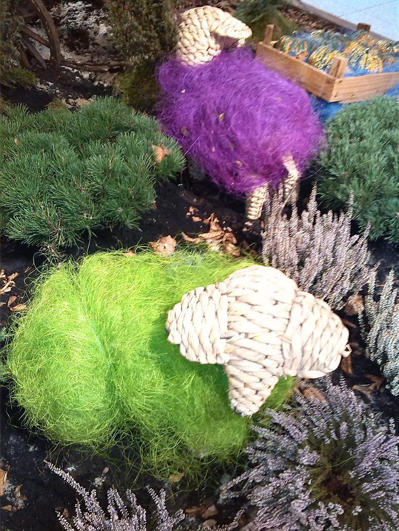 Dekoschafe in Herbstdeko