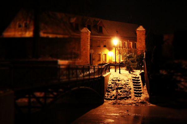 Delitzsch bei Nacht 1