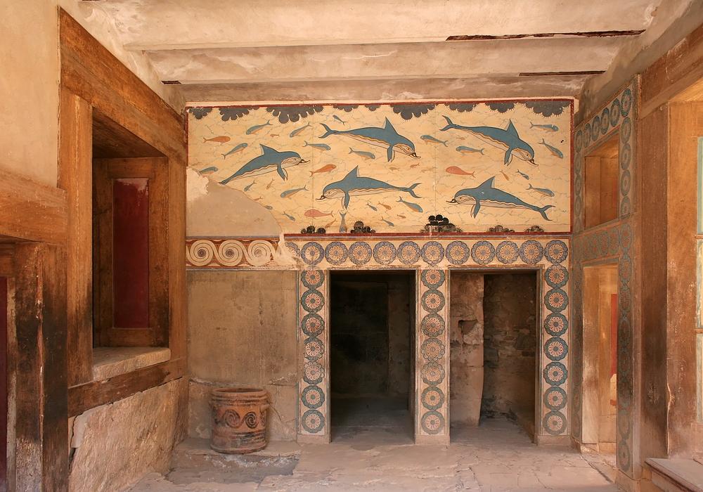 Delphinzimmer im Palast von Knossos