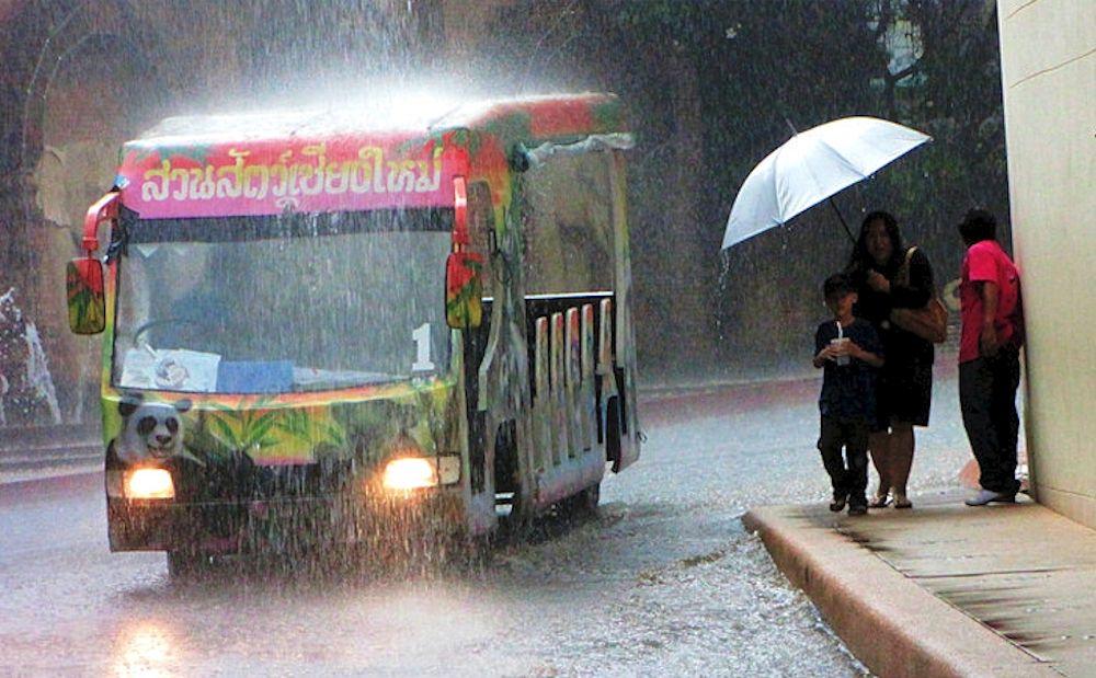 Déluge au nord de la Thailande
