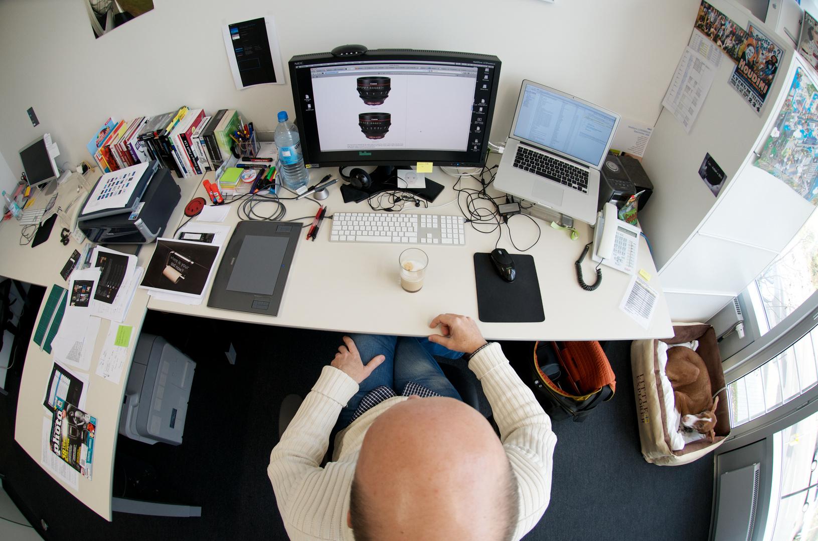 Dem Herrn Pietsch sein Schreibtisch