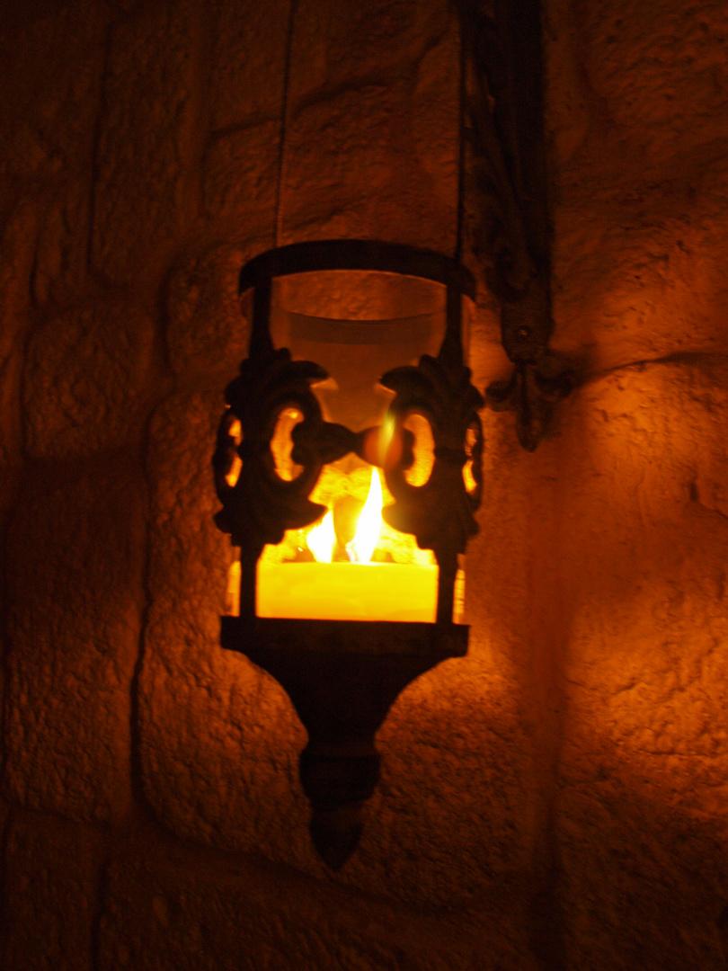 Dem Kerzen Licht zu schauen
