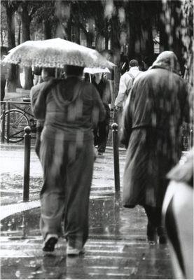 Dem Regen den Rücken kehren