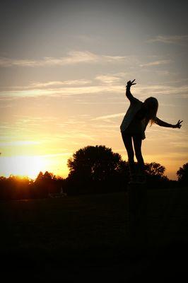 Dem Sonnenuntergang entgegen..