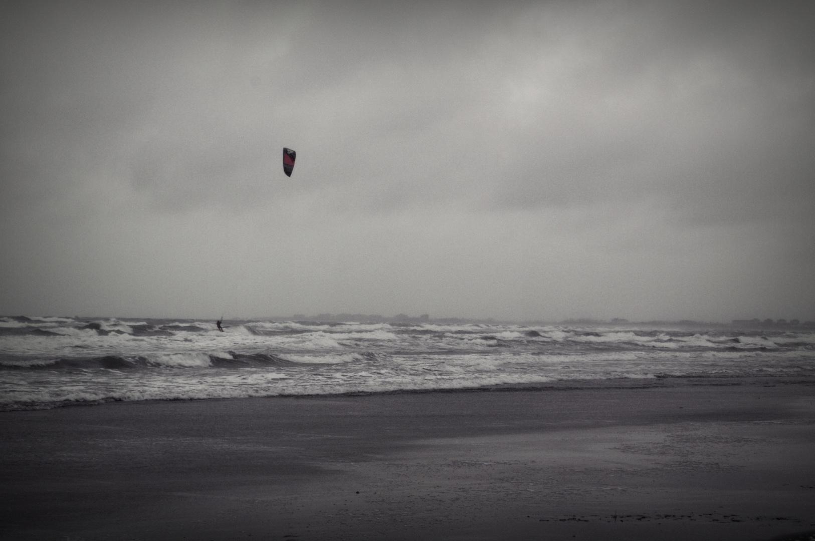 dem Sturm entgegen