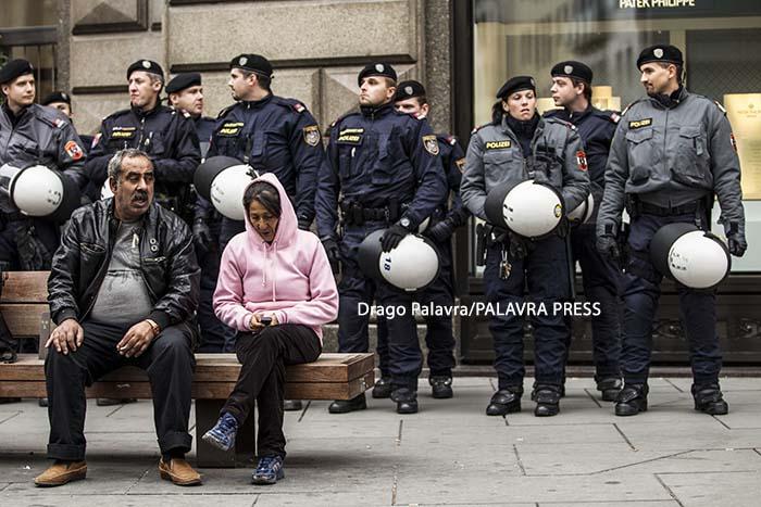 Demonstration against...