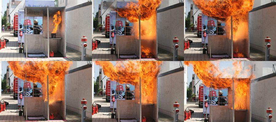 Demonstration einer Fettexplosion