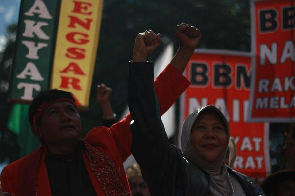 demonstration in Indonesia