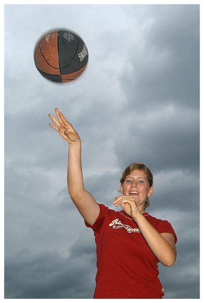 Den Ball gespielt