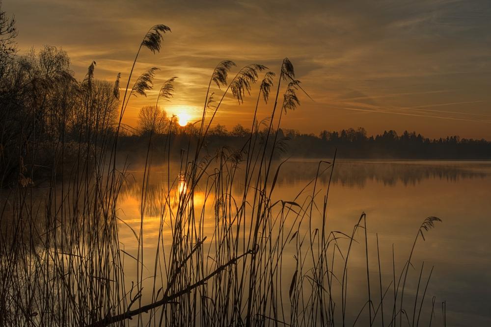 Den Sonnenaufgang genießen