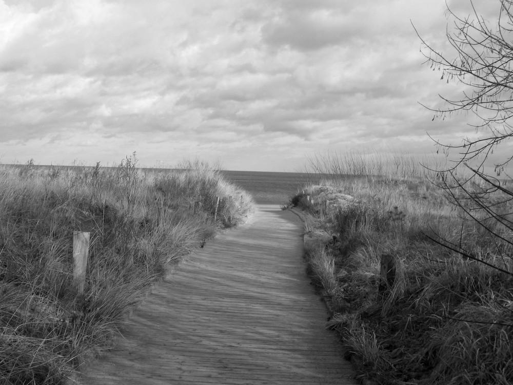 Den Weg zum Meer....