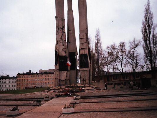 Denkmal für gefallene Werftarbeiter in Danzig