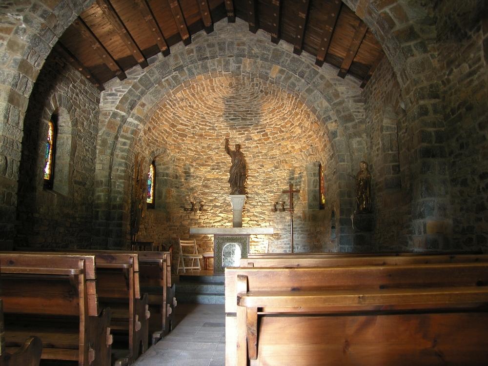 Dentro de la Ermita de Sant Bernat