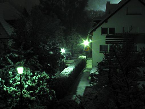 Der 1. Schnee ! (bei uns)