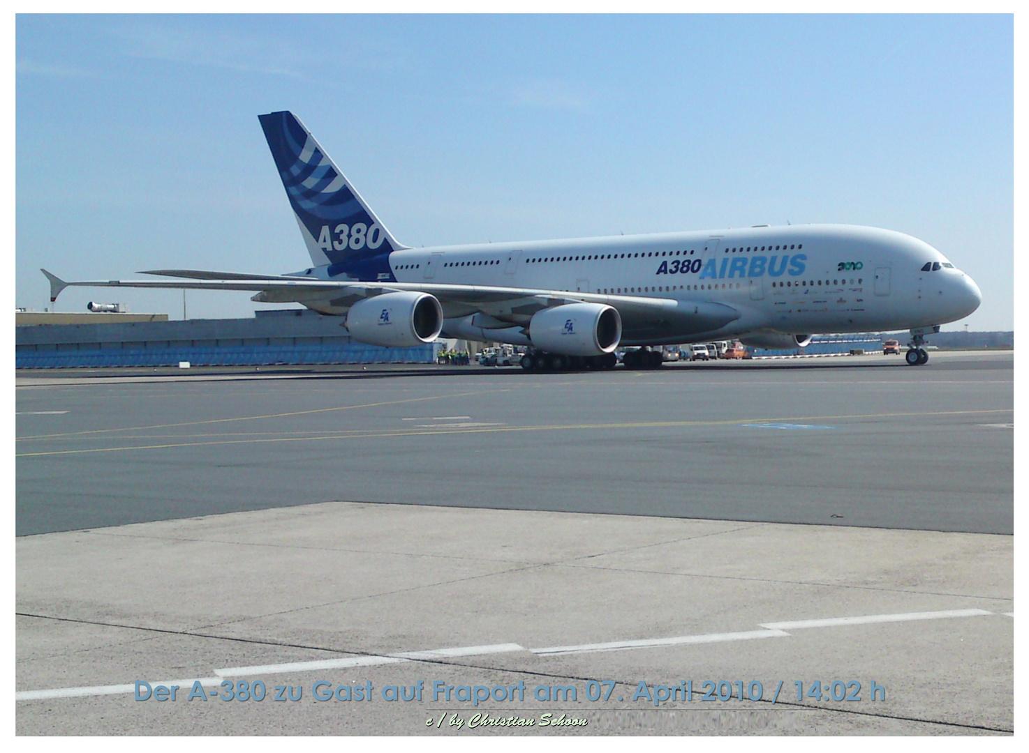 Der A-380 auf Fraport