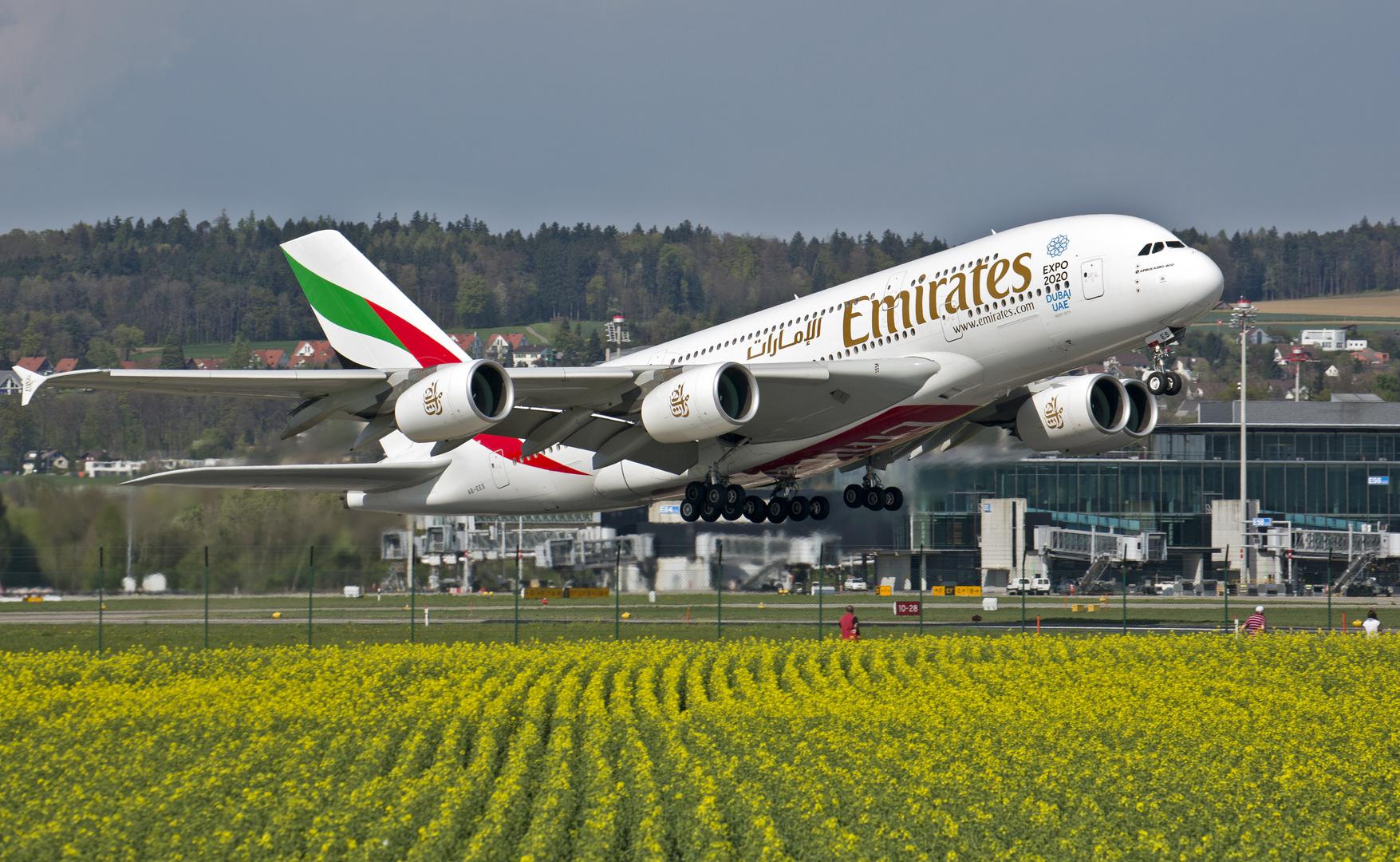 Der A380 in ZRH