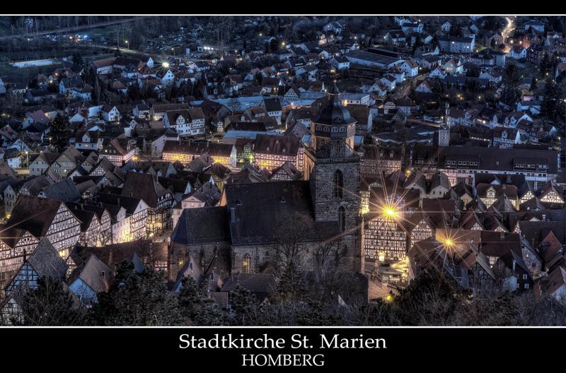Der abendliche Blick auf die Altstadt