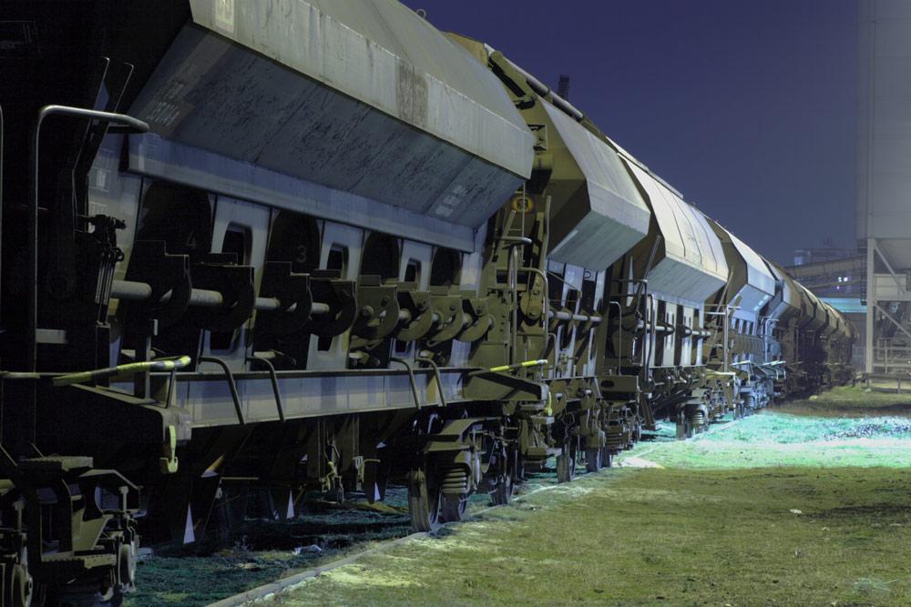 Der abgestellte Güterzug