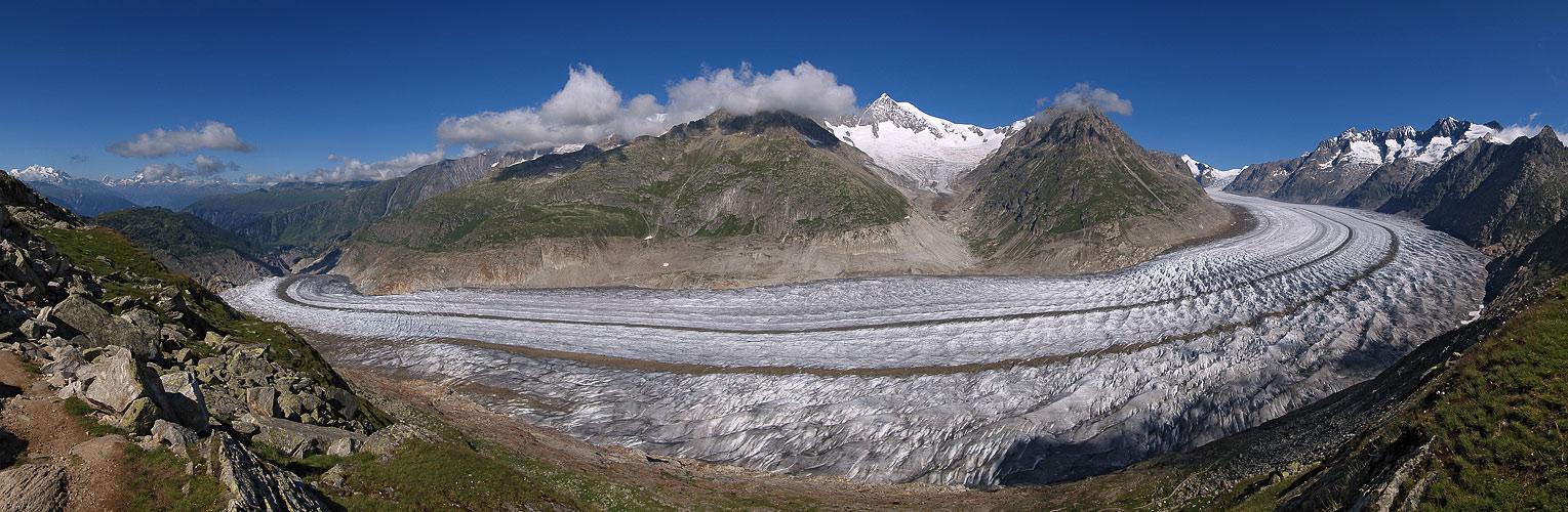 Der abschmelzende Aletsch-Gletscher