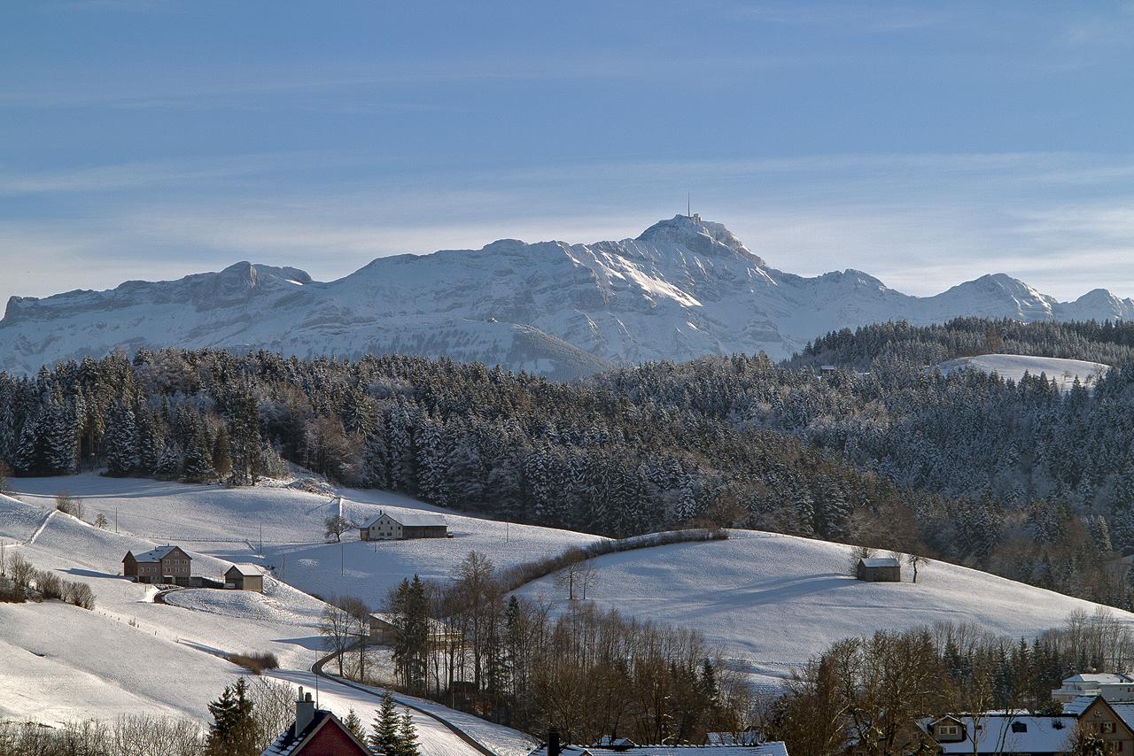 Der Alpstein mit Säntis