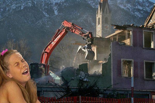Der Alptraum vom abgerissenen Elternhaus.....