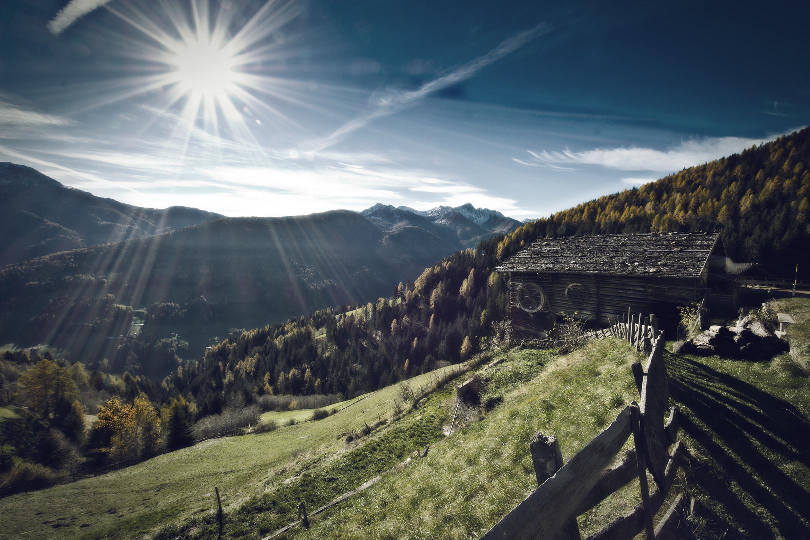 Der alte Bergbauernhof