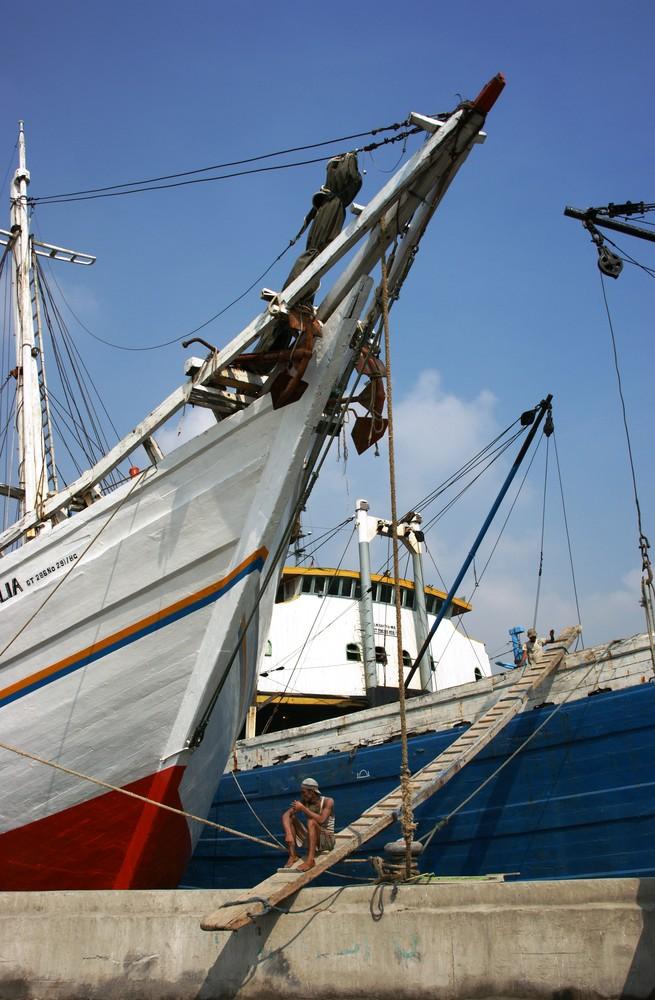 Der alte Hafen von Jakarta