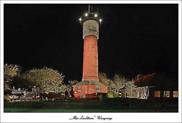 Der alte Leuchtturm auf Wangerooge bei Nacht!