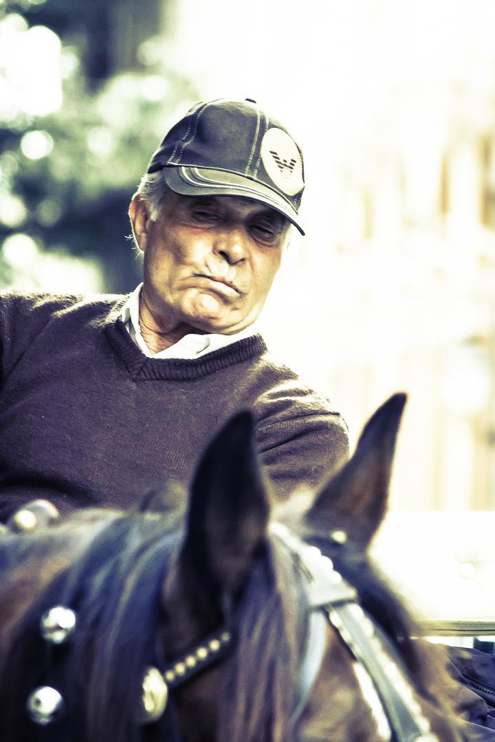 Der alte Mann und sein Pferd....
