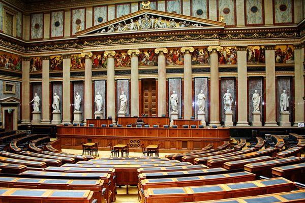 der alte Sitzungssaal im Wiener Parlament
