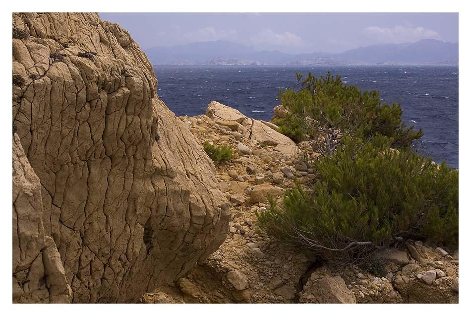 Der alte Stein und das Meer