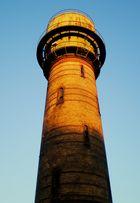 Der alte Wasserturm in Alsdorf im Sonnenlicht