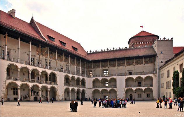 Der Arkaden-Innenhof