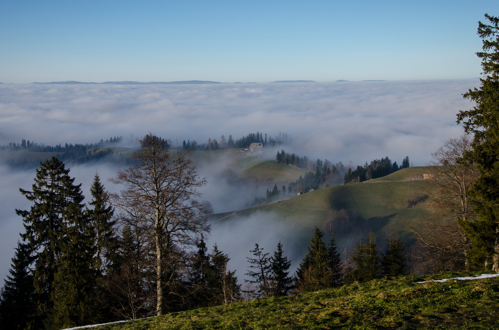 Der Aufstieg auf Ober Rafrüti wurde mit viel Sonnenschein reichlich belohnt
