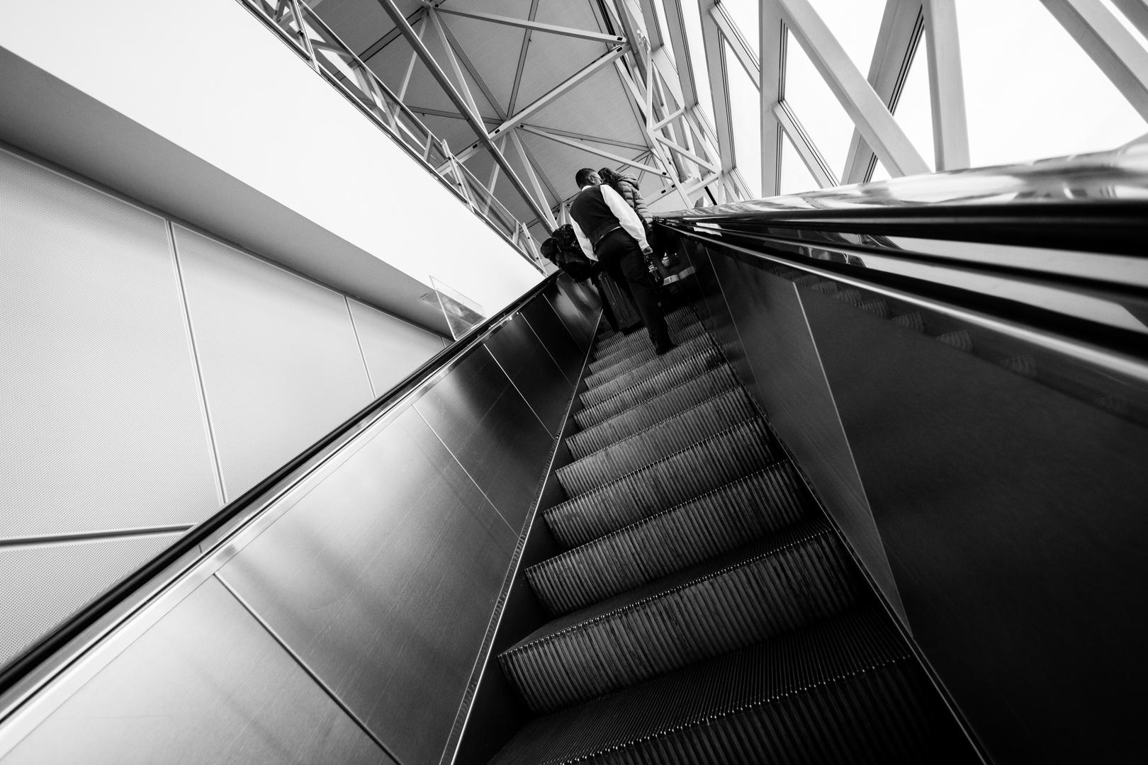 Der Aufstieg zum Terminal