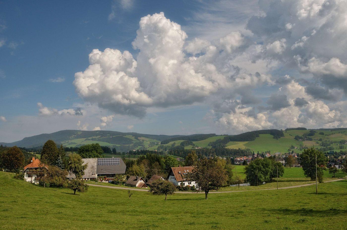 Der Aussicht auf St. Peter (Hochschwarzwald)