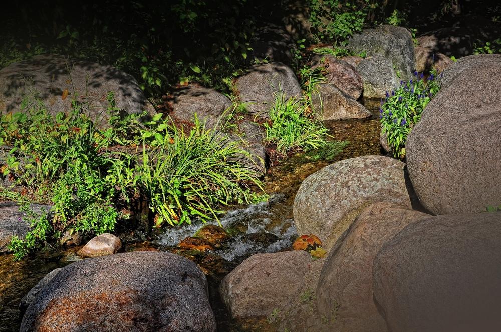 Der Bachlauf......, Impressionen aus dem Britzer Garten