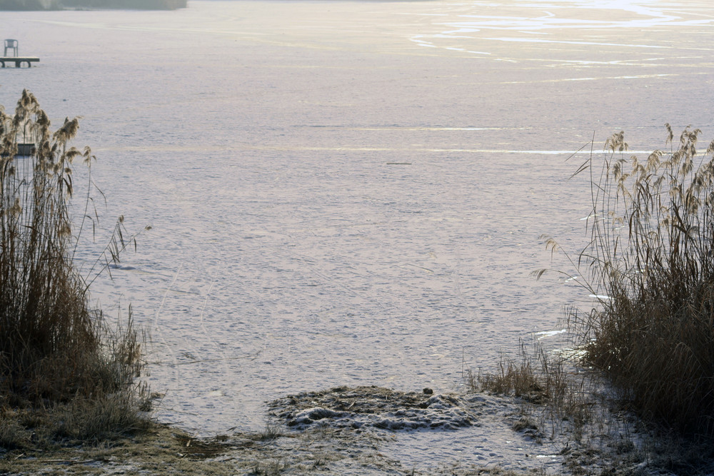 Der Baggersee im Winter