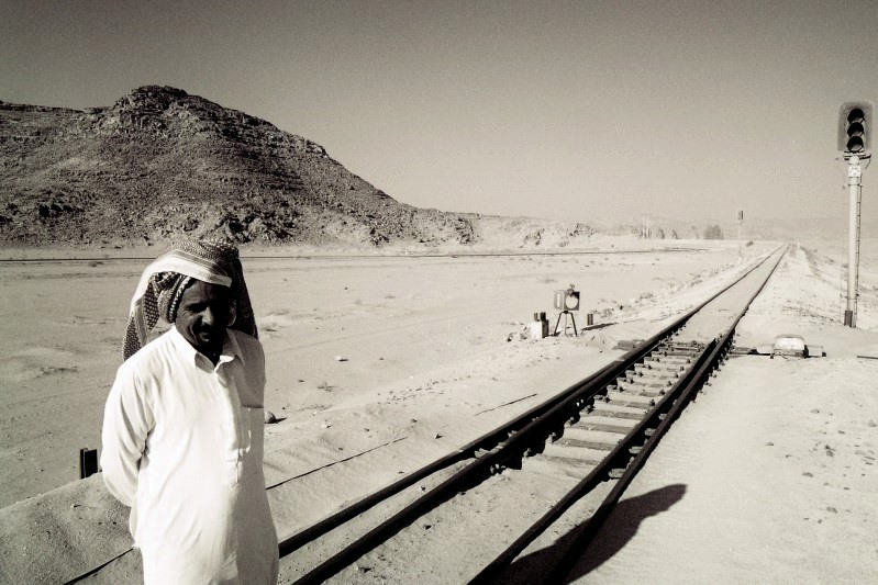 Der Bahnarbeiter...