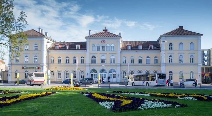 Der Bahnhof von Friedrichshafen