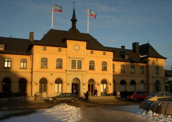 Der Bahnhof von Uppsala