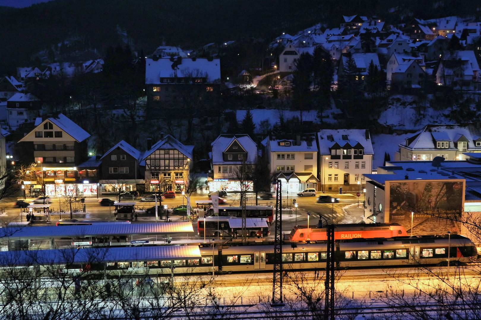 Der Bahnhof zum Rothaarsteig