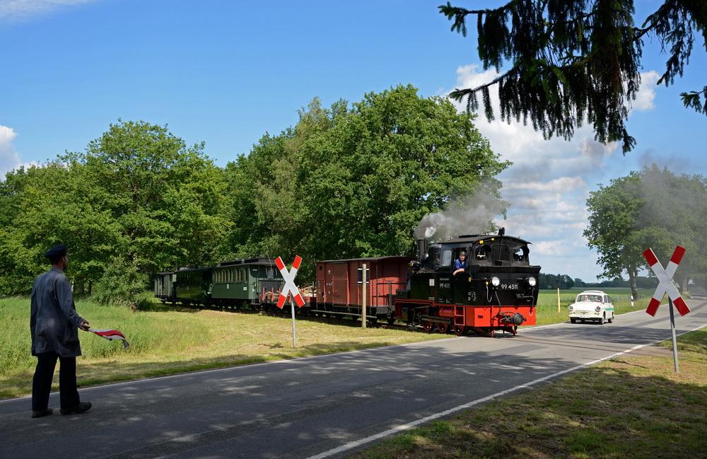 der Bahnübergang von Vettin