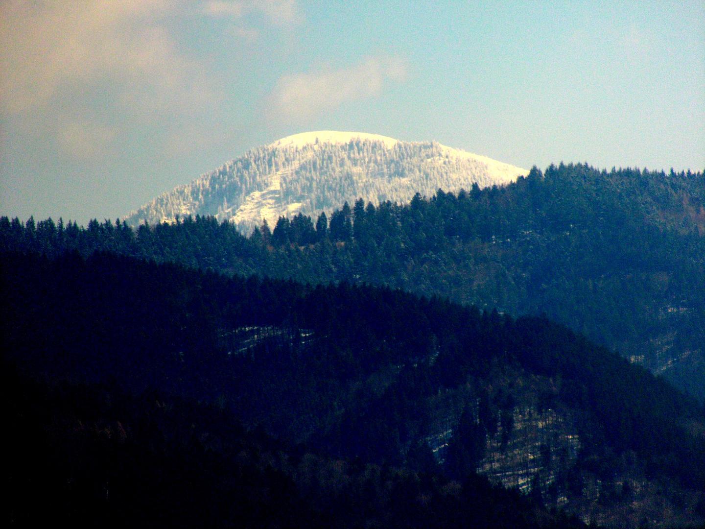 Der Belchen im Winterkleid am 15.3.2013