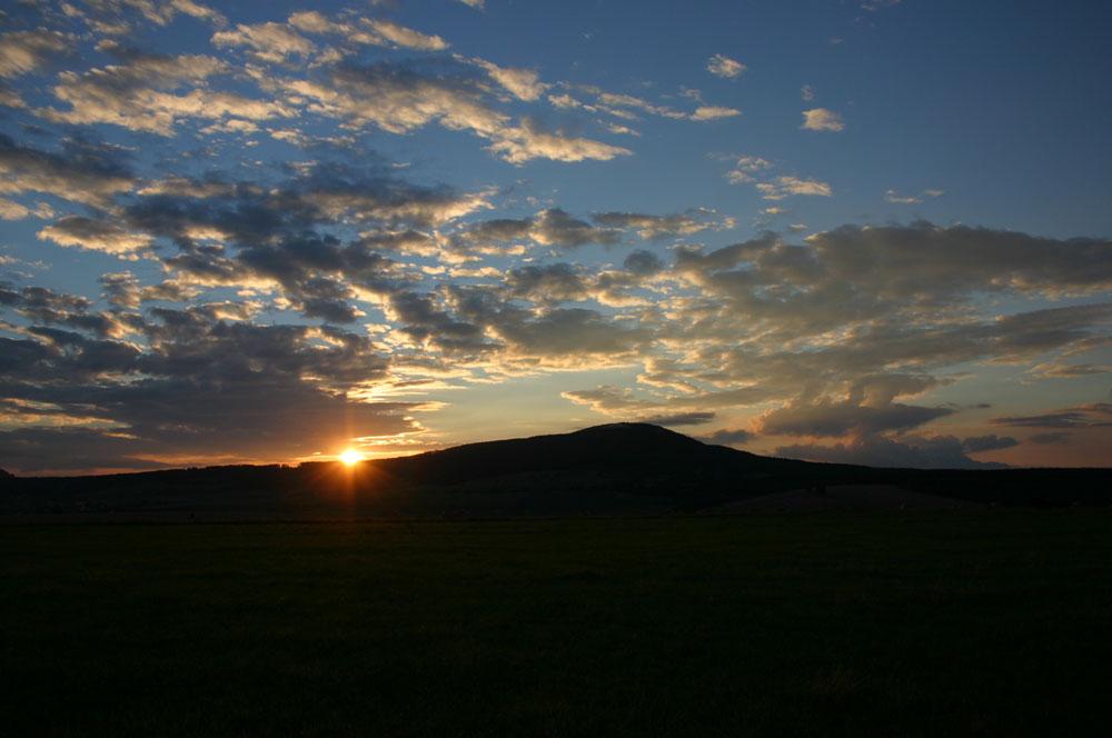 Der Berg der Kelten im Abendlicht