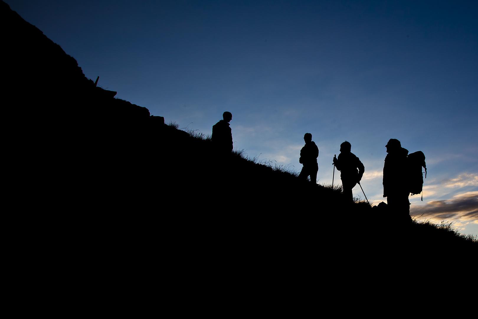 Der Berg ruft... ...und der Sonnenaufgang naht