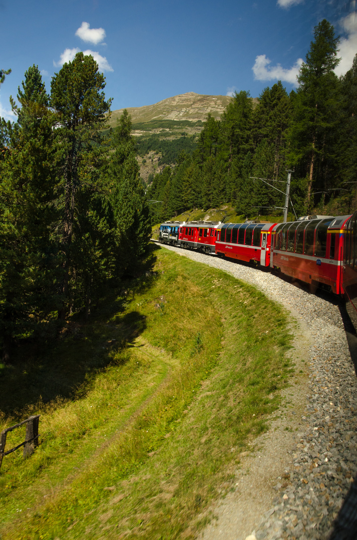Der Bernina-Express...