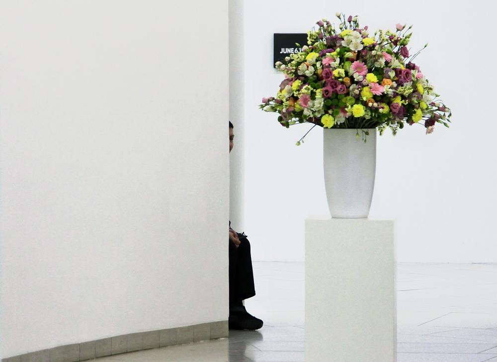 der bewachte Blumenstrauß