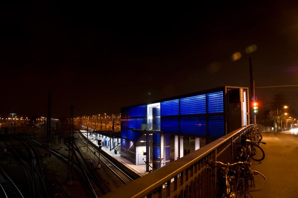 Der blaue Bahnhof ...